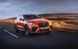 15 Jaguar F Pace SVR 2021 UK first drive review on road front