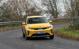 15 Kia Stonic 48v 2021 UK first drive review cornering front