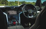 Lamborghini Urus 2018 UK first drive review steering wheel