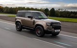 Land Rover Defender 90 P400 X 2020 UK first drive review - cornering front