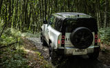 15 Land Rover Defender 90 D250 2021 UK first drive review static rear