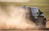 15 Land Rover Defender V8 2021 UK FD dust rear