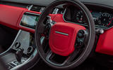 Land Rover Range Rover Sport HST 2019 UK first drive review - steering wheel