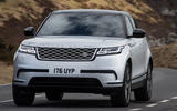 15 Land Rover Range Rover Velar PHEV 2021 UK first drive review on road front