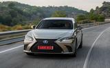 Lexus ES 2019 first drive review - cornering front