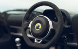 15 Lotus Elise Sport 240 Final Edition 2021 UK first drive review steering wheel