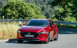 Mazda 3 Skyactiv-X 2019 first drive review - cornering front
