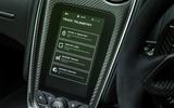McLaren 570S Spider Track Pack 2018 UK review telemetry menu