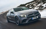 Mercedes-AMG A35 2019 UK first drive review - cornering front