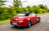 Mercedes-Benz E-Class e450 Cabriolet 2020 UK first drive review - on the road rear