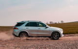 Mercedes-Benz GLE 400d 2019 UK first drive review - on the road side