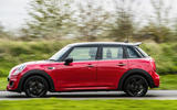 Mini Cooper 5dr 2018 UK review on the road side