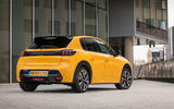 Peugeot 208 GT Line 2020 UK first drive review - static rear