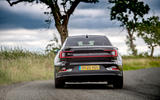 Polestar 2 2020 UK first drive review - on the road rear