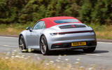 Porsche 911 Carrera 4S Cabriolet 2019 UK first drive review - on the road rear