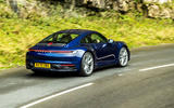 Porsche 911 Carrera S manual 2020 first drive review - on the road rear