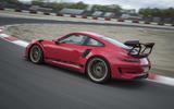 Porsche 911 GT3 RS 2018 review cornering rear