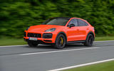 Porsche Cayenne Coupé 2019 first drive review - action front