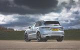 Porsche Cayenne Turbo S E-Hybrid 2020 UK first drive review - static rear