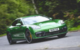 Porsche Panamera GTS 2019 UK first drive review - cornering front