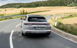 Porsche Panamera GTS Sport Turismo 2020 first drive review - on the road rear