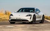 15 Porsche Taycan Cross Turismo 4S 2021 UK FD cornering front