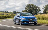 15 Renault Megane E Tech phev 2021 UK FD cornering front
