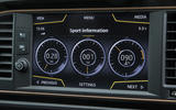 Seat Leon Cupra R 2018 UK review infotainment