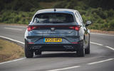 Seat Leon eHybrid FR 2020 UK first drive review - on the road rear