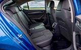 Skoda Octavia hatchback 2020 UK first drive review - rear seats
