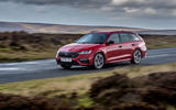 Skoda Octavia vRS Estate 2020 UK first drive review - on the road front