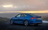 Skoda Octavia vRS TDI 2021 UK first drive review - static rear