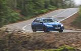 Skoda Superb Estate Sportline 2020 UK first drive review - cornering front