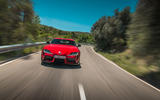 Toyota GR Supra 2019 first drive review - on the road nose