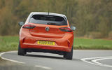 Vauxhall Corsa-e 2020 UK first drive review - on the road rear
