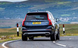 Volvo XC90 B5 petrol 2020 UK first drive review - on the road rear