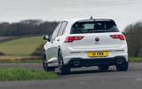 15 vw golf gti clubsport 2021 uk first drive review cornering rear