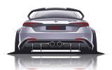 Alfa Romeo Giulia GTA render 2020 - stationary rear