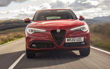 Alfa Romeo Stelvio Sprint 2020 UK first drive review - on the road nose