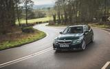 16 Alpina D3 Touring 2021 UK first drive review cornering front