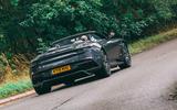 Aston Martin DBS Superleggera Volante 2019 UK first drive review - on the road rear