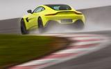 Aston Martin Vantage track driving rear
