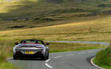 Aston Martin Vantage Roadster 2020 UK first drive review - cornering rear
