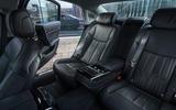 Audi A8 60 TFSIe 2020 UK first drive review - rear seats