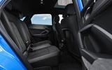 Audi Q3 Sportback 2019 UK first drive review - rear seats