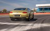 16 Bentley Continental GT Speed 2021 UK FD on road rear