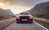 16 Bentley Fyling Spur V8 2021 UK review on road front