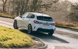 16 BMW 1 Series 128ti 2021 UK first drive review on road rear