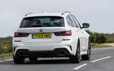BMW 3 Series Touring 330d 2019 UK first drive review - cornering rear