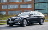 BMW 5 Series 2020 UK (LHD) first drive review - cornering front